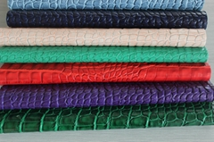 Fashional Hot selling crocodile suface embossed pvc synthetic leather