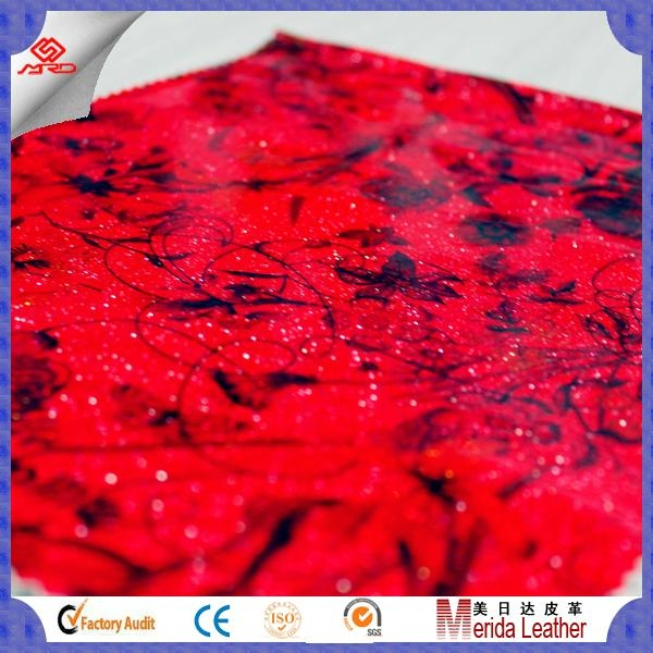 wholesale transfer film satin pvc glitter leather vinyl fabric for making bags 1