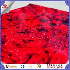 wholesale transfer film satin pvc glitter leather vinyl fabric for making bags