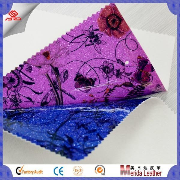 wholesale transfer film satin pvc glitter leather vinyl fabric for making bags 5