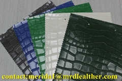 fashion crocodile pattern embossed pvc imitation leather for bags