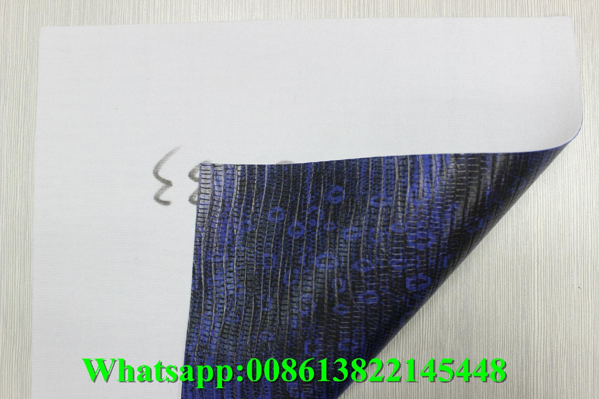 cheap embossed pvc artificial leather fabric for making bag 2