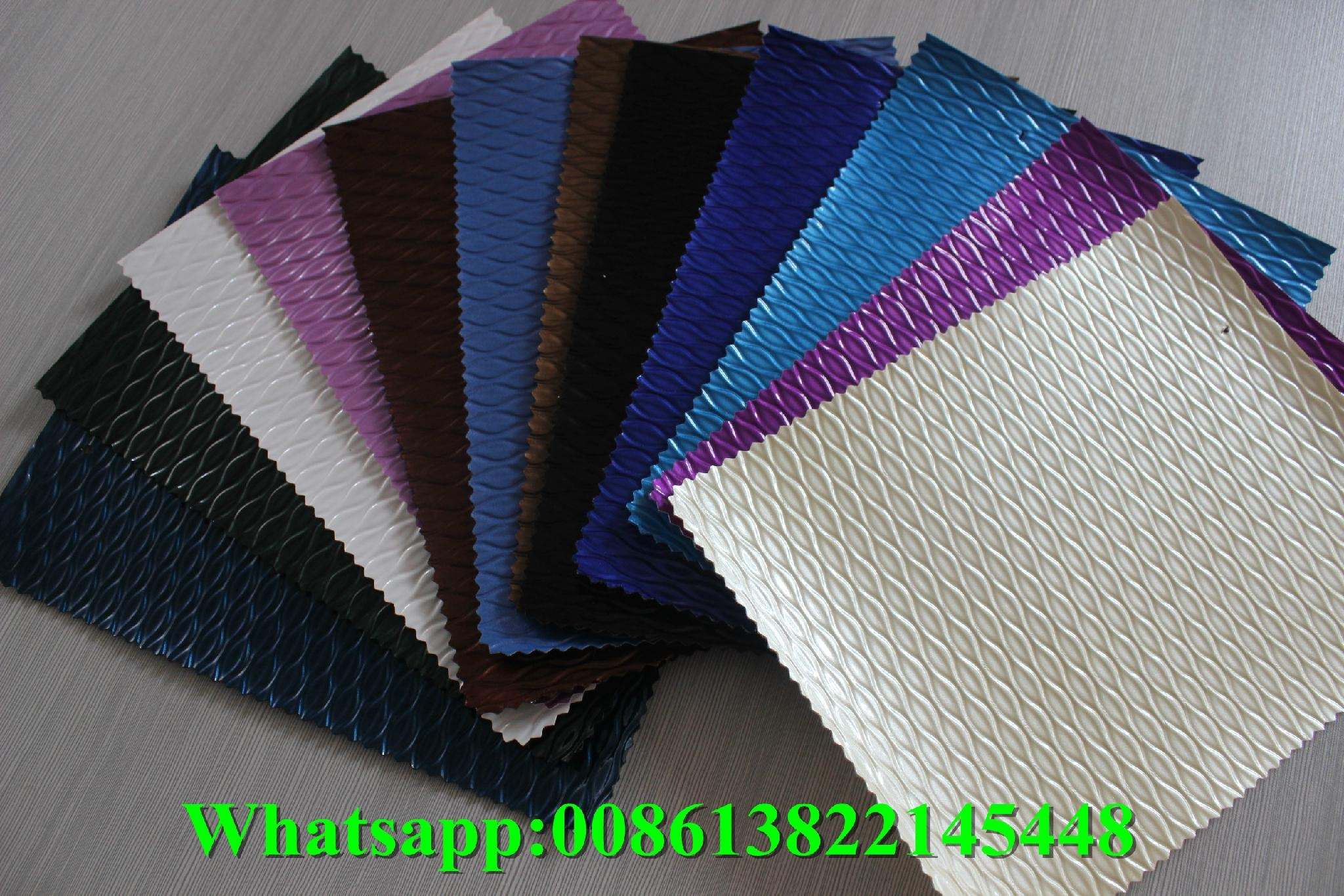 Wholesale high gloss pvc artificial embossed leather for ladybags and l   age 1
