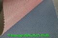Guangzhou new design rhombus pattern embossed pvc synthetic leather fabric for u 3