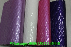 Factory price hot selling high gloss pvc artificial leather for lady bags
