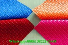 MRD50028 High grade comfortable embossed pvc sponge leather for decoration