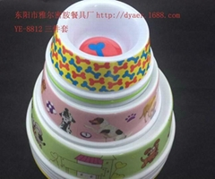 8811-6 factory wholesale high-end solar round plastic pet bowl melamine melamine