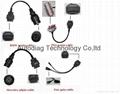 Car Cables Full Set 8 PCS for Autocom Tcs Cdp PRO Cables OBD2 Connect Adapter