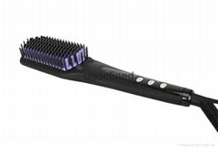 2016  Black Electric Hair Straightening Brush with Ceramic Coating