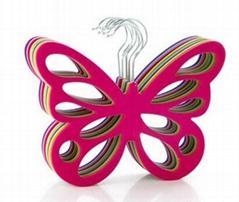 Flocked butterfly shape scarf hanger ,Non-slip