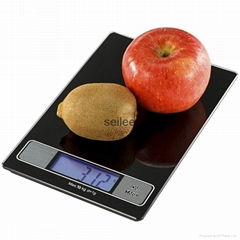 Tempered Glass platform 10kg Backlit LCD Digital Kitchen Scale