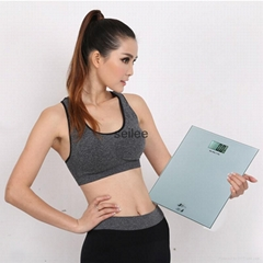 200kg 8mm Tempered Glass Digital Personal Scale