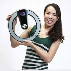 Round Glass Platform electronic weighing Scale