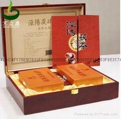 涇茯源手筑金花茯磚茶紅木禮盒裝
