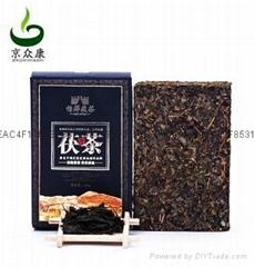 怡澤茯磚茶陝西特產茶葉400g