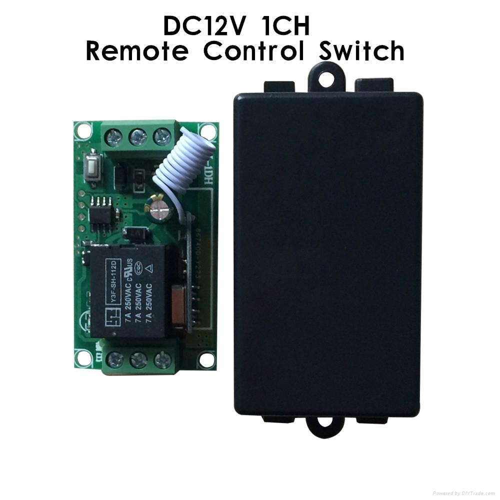 dc12v 1 channel rf remote control relay switch 1