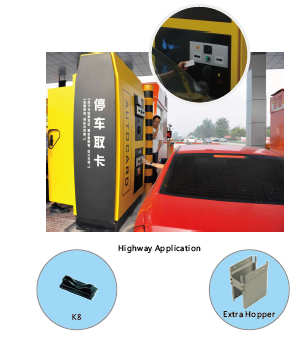RS232 TTL interface Automatic Ticket PVC Card Collector TCR-615 for Parking Syst 4