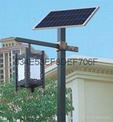 太阳能庭院灯hk15-274014米40W节能型太阳能庭院灯