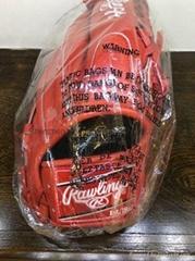 Rawlings Baseball Glove Red Box Logo Red