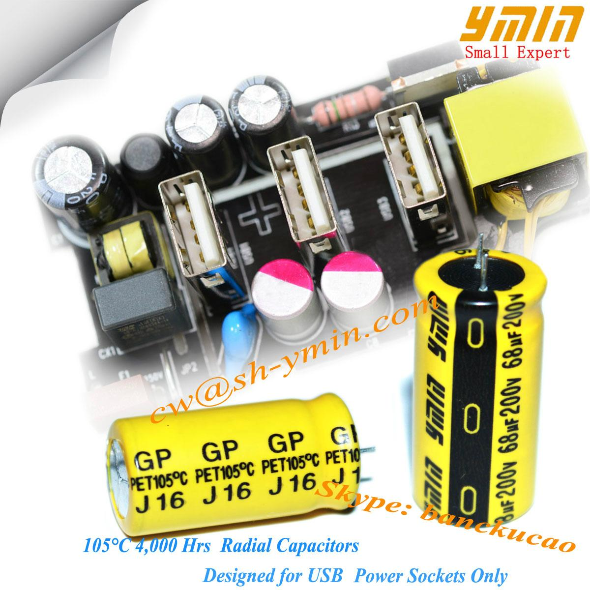 High stability GP aluminum electrolytic capacitor for portable USB chargers 1