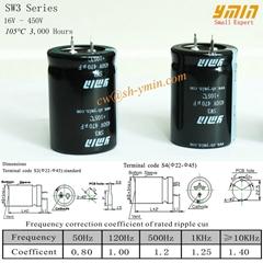 YMIN Horn Type Aluminum Electrolytic