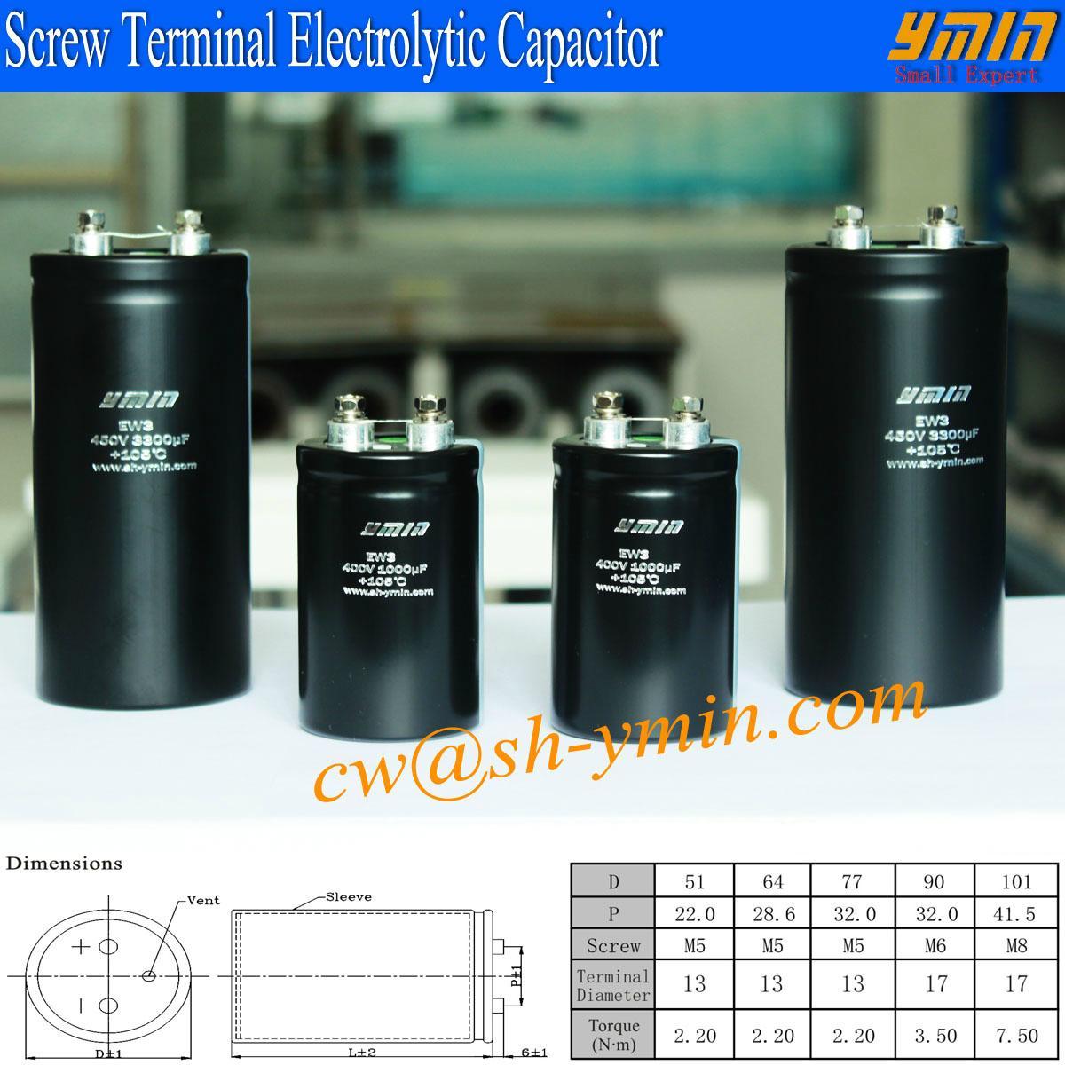 UPS Large Screw Terminal  Aluminum Electrolytic Capacitor high ripple current 1