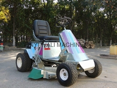 Ride on type gas engine lawn mower