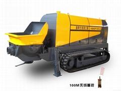 Remote controal crawler concrete pump