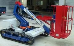 Electric Crawler dumper with hydraulic crane lift