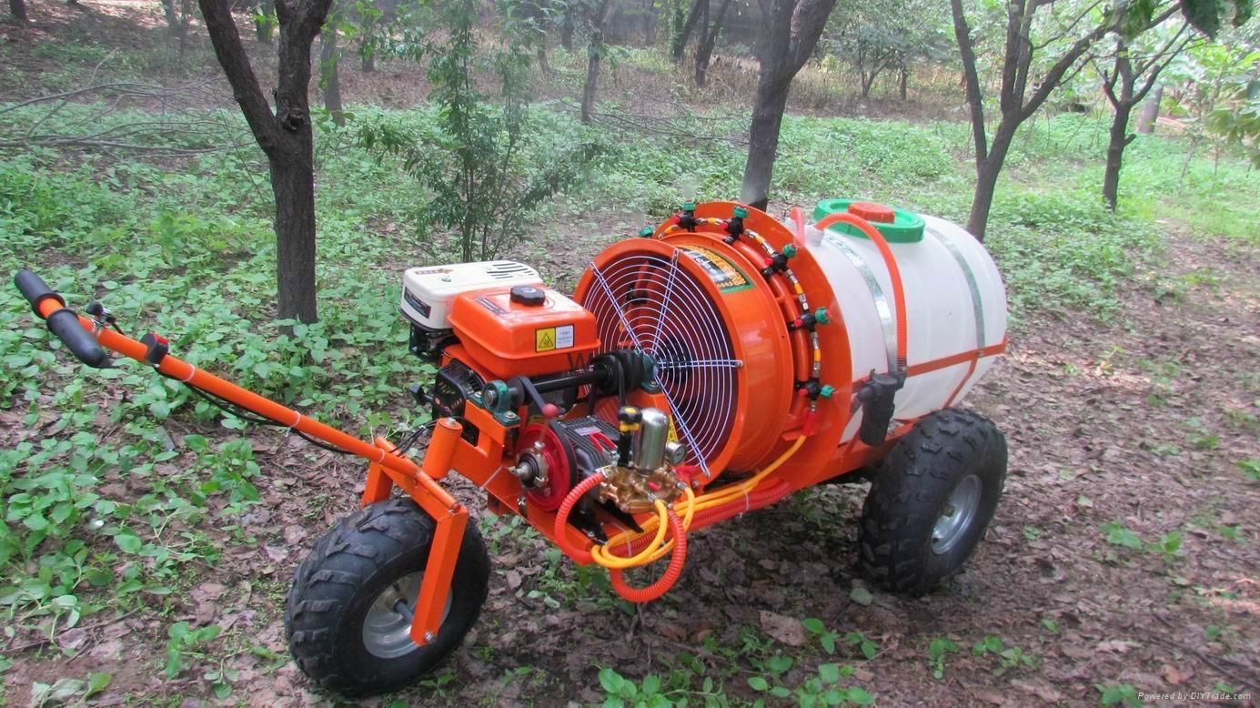 Mini Wheel Type Gas Engine Air Blast Sprayer China