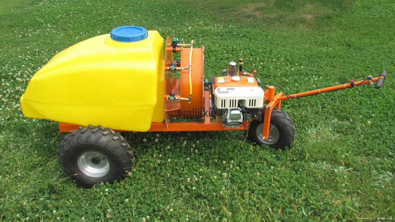 Mini wheel type self propelled air blast power sprayer WL