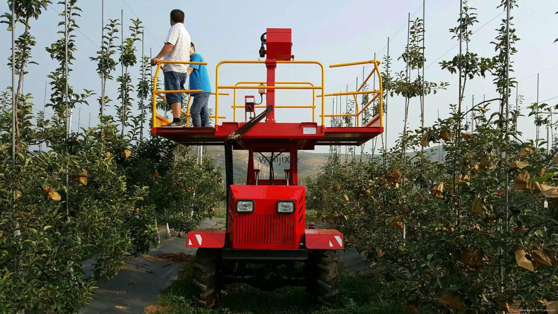Wheel type self popelled type garden work platform