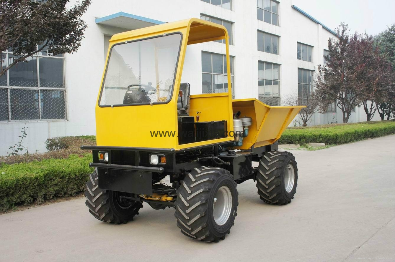 4WD wet land  wheel type dumper WL-2000W 2