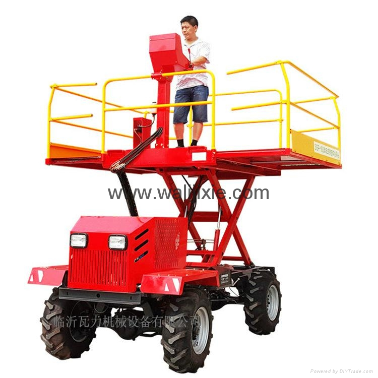 Wheel type self popelled type garden work platform