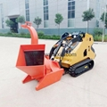 mini crawler loader- wood shredder