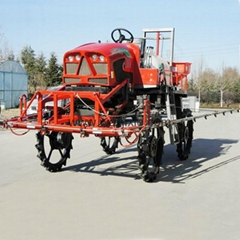 Self propelled diesel engine boom sprayer