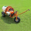 Mini wheel type gas engine air blast sprayer