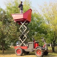 multifunction garden  wheel tractor  with lift container