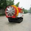 Self propelled crawler air blast power sprayer