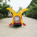 Self propelled crawler air blast power