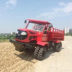 农用四驱棕榈园折腰转向运输型拖