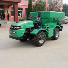 农用四驱轮式有机肥撒肥机
