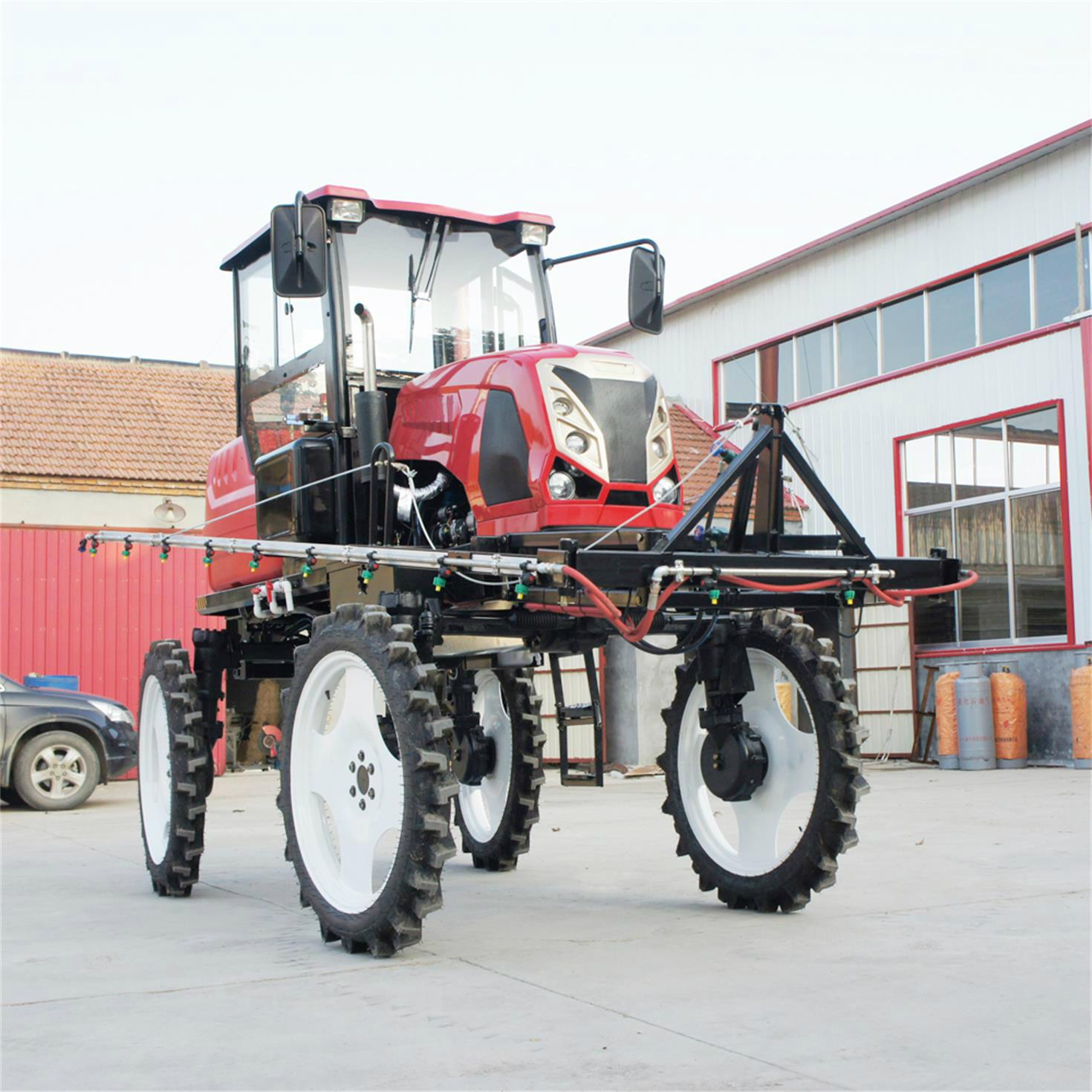 Agricultural tractor power pesticide machine  1