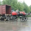 Self-propelled paddy field diesel engine power fog sprayer