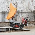 palm garden full rubber crawler dump transporter