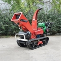 Mini crawler self propelled type wood shredder