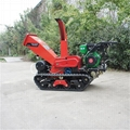 Mini Crawler moving leaf shredder