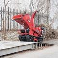 Mini Crawler moving leaf shredder 8
