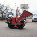 self-feeding self-power mobile wood chipper with crawler