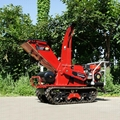 crawler type diesel engine leaf chipper shredder